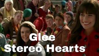Glee - Stereo Hearts (lyrics)