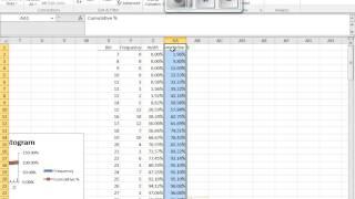 Create Cumulative Percentage Graphs in Excel width=