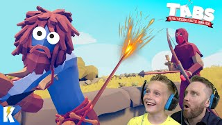 Exploding his BUTT! Totally Accurate Battle Simulator (TABS 1!) | KIDCITY GAMING