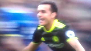 Pedro goal against Everton 2017