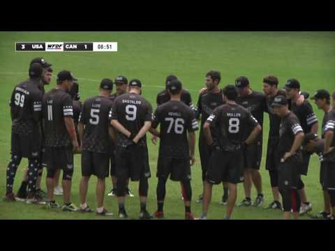 Video Thumbnail: 2016 World Ultimate Championships, Men's Masters Gold Medal Game: USA vs. Canada