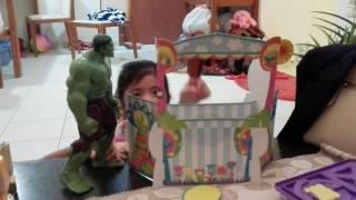 Puppet show of mikaela and sam