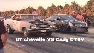 1967 Chevelle SS vs Cadillac CTSV