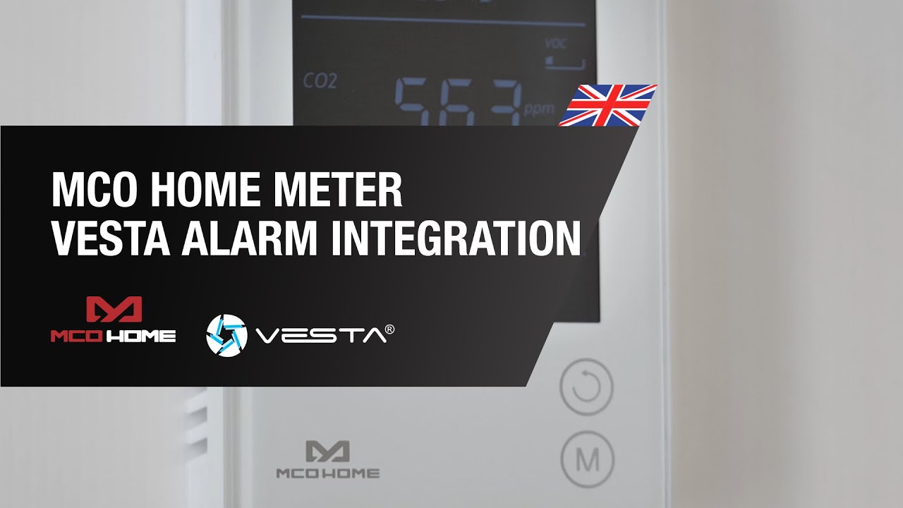 MCO HOME CO2, Temperature and Humidity Meter and VESTA Alarm Integration