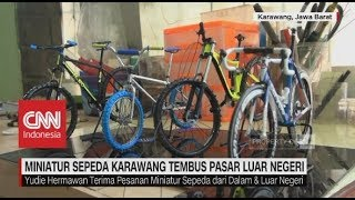 Miniatur Sepeda Karawang Tembus Pasar Luar Negeri