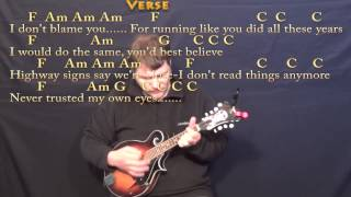 Stubborn Love (Lumineers) Mandolin Cover Lesson with Chords/Lyrics