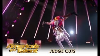 Elijah Holt: The INCREDIBLE Zebra Guy! | America's Got Talent 2018