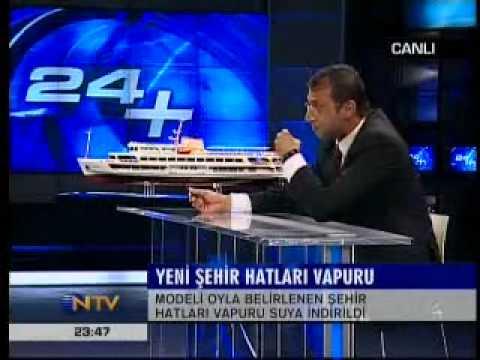 """NTV - 24+ - Yeni Şehirhatları Vapuru """"Fatih"""" suya indirildi."""