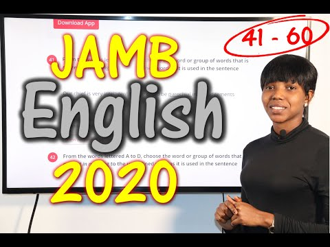 JAMB CBT English 2020 Past Questions 41 - 60