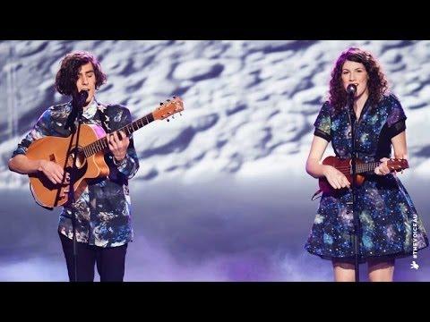 Gabriel & Cecilia sing Walking on a Dream   The Voice