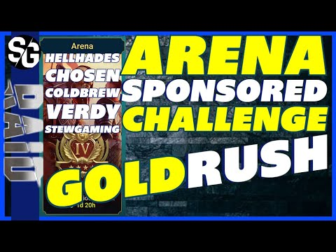 RAID SHADOW LEGENDS | ARENA! PLARIUM SPONSORED CHALLENGE | HELLHADES, VERDY, COLDBREW, CHOSEN & STEW
