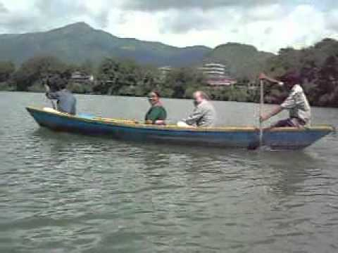 Boating at Feva lake, Pokhara, Nepal.avi