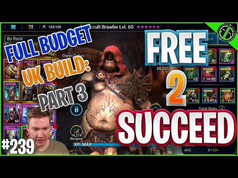 But ALL WORK & NO PLAY BABY, Almost Done With This Unkillable Team!! Free 2 Succeed - EPISODE 239