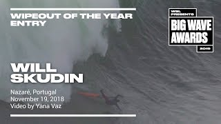 Will Skudin at Nazare - 2019 Wipeout of the Year Entry - WSL Big Wave Awards