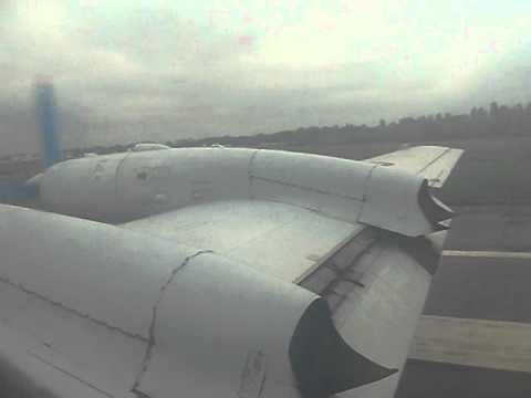 Tandem Aero IL-18 Landing in Kiev, Ukraine – Window View