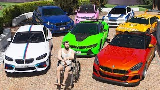 GTA 5 - Stealing Luxury BMW Cars with Michael! (Real Life Cars #09)