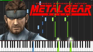 Metal Gear Solid Theme - Metal Gear Solid [Piano Tutorial] (Synthesia)