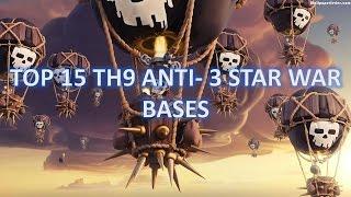 Top 15 Best TH9 Anti -3 Star War Bases