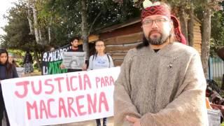 Justicia para Macarena Valdes: Intervención Ruben Collío previa al ingreso del tribunal