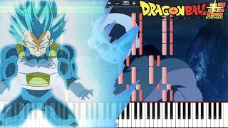 Vegeta Ascends! Vegeta's New Form - Dragon Ball Super OST Episode 123 , Vs Jiren (Piano Tutorial)