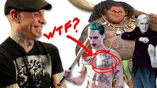 Professional Tattoo Artists Judge Tattoos From Movies