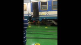 Train get into ferry@on the way to Catania