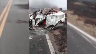 Choque en la ruta 9, en Salta: un auto se prendió fuego