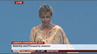 Sue Marsh speaking at Labour Conference 2013