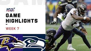 Ravens vs. Seahawks Week 7 Highlights   NFL 2019