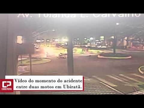 Motociclista em alta velocidade causa acidente em cruzamento na cidade de Ubiratã - Cidade Portal