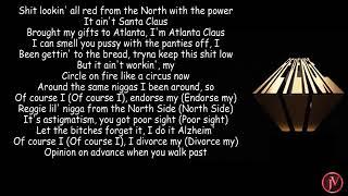Dreamville - Sacrifices Ft EARTHGFANG, J Cole, Smino And Saba..(Lyrics)