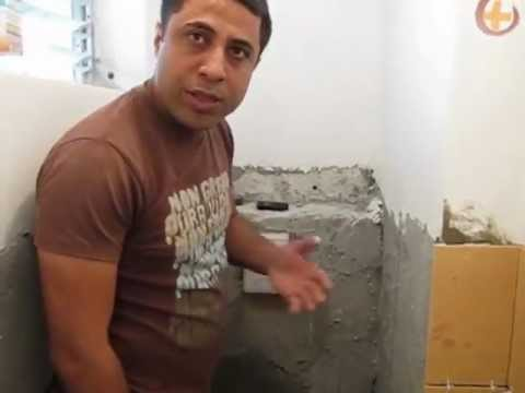 התקנת ניאגרה סמויה באמצעות חגורות בטון
