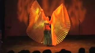Mexican Bellydancer Eli Del Negro Isis Wings