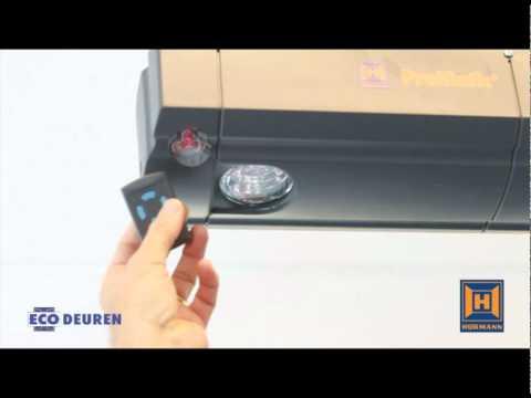 Het inleren van de Handzender op de Hörmann Promatic aandrijving