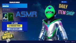 ASMR   Fortnite NEW Zorgoton Skin Area 51 Traveler Bundle! Item Shop Update 🎮🎧Relaxing Whispering😴💤