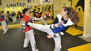 Great Taekwondo Training  Warm up, Fundaments, Sparring