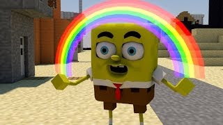 SPONGEBOB IS IN MINECRAFT! - (Minecraft 3D Animation)