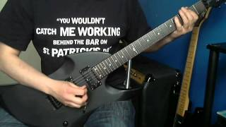 Slayer - The Antichrist (Guitar Cover & Solo) Vintage Warp