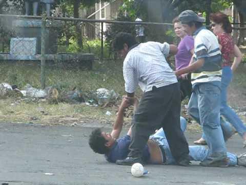 Street Fight In Nicaragua