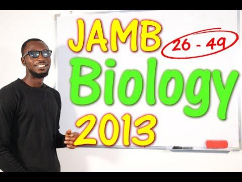 JAMB CBT Biology 2013 Past Questions 26 - 49