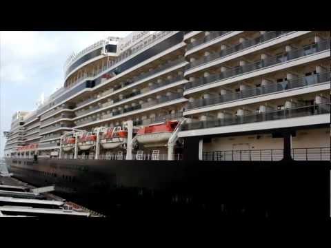 Cunard's Queen Elizabeth Luxury Ocean Liner in Odessa, Ukraine