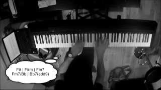 Lately piano cover (Stevie Wonder) with chords - by Karl Stowell