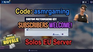 Fortnite Custom Matchmaking Subscriber Lobby Stream! Come Join! Code: asmrgaming [Eng] (PS4)