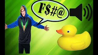 Logan Paul Rubber duck noise every time he swears