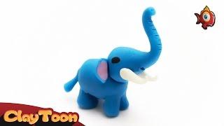 How to make an Elephant with clay   كيفية عمل فيل بواسطة الصلصال
