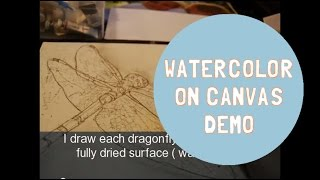 How to Paint with Watercolors on Canvas