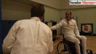 Jonny Dangerous tackles Britain's top wheel chair fencer
