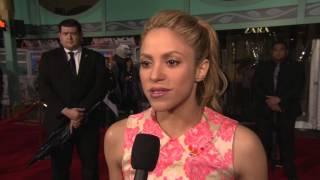 "Zootopia: Shakira ""Gazelle"" Red Carpet Movie Premiere Interview"