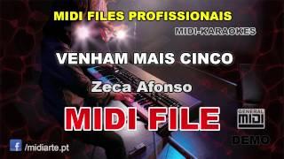 ♬ Midi file  - VENHAM MAIS CINCO - Zeca Afonso