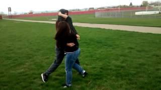 Girl beats up guy
